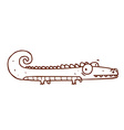 Hand Drawn Alligator vector image