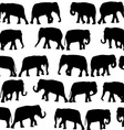 Black elephants seamless pattern vector image