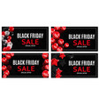 black friday sale banner template collection set vector image