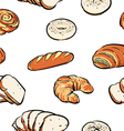 bread pattern including seamless clipart vector image