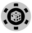 dice black casino chip vector image