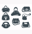 fashion bags collection vector image