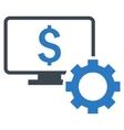 Financial Monitoring Options Flat Icon vector image