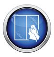 Hand wiping window icon vector image