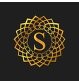 Monogram design template with letter S vector image