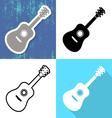 Various guitar cards vector image