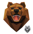 bear-head-front vector image