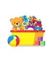 Kids toys in box clipart vector image vector image