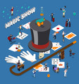 magic show isometric composition vector image