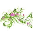 Abstract floral swirl for you design vector image vector image