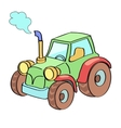 Tractor cartoon colored vector image