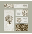 Bakery business cards design vector image