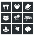 Set of Spring Dating Icons Melting vector image