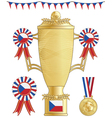 czech republic football trophy vector image