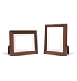 Volumetric wooden frames vector image vector image