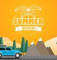 Summer season flat design vector image