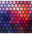 Background of repeating geometric stars Spectrum vector image