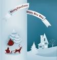 Christmas design night village banner lettering vector image