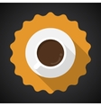 Coffee Cup Flat Icon with long shadow vector image