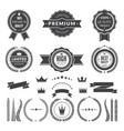 design template of premium badges or logos vector image