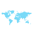 light blue map of world - circles vector image