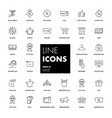 line icons set sale vector image