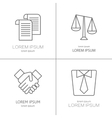 logo for law firm juristical company vector image