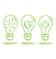 love and saving energy concept vector image