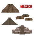 Mexican cultural ancient landmarks icons vector image