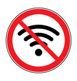 no free wi-fi icon vector image
