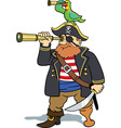 pirate and parrot scouting vector image