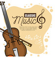 poster festival classic music icon vector image