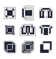 Set of geometric shapes Trendy icons tattoo and vector image