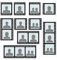set photo frames picture slide vector image