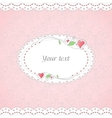 Template of romantic card vector image