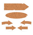 wooden signs arrows signboards vector image