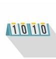 Tennis scoreboard icon flat style vector image