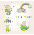 Baby Cat Set - Baby Shower or Arrival Card vector image vector image