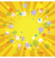 Warm yellow summer festive background vector image
