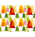 abstract art background Christmas tree seamless vector image vector image