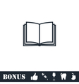 Open book icon flat vector image