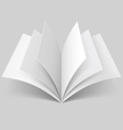 Open blank book vector image
