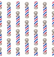 Barber pole Seamless watercolor pattern with vector image