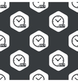 Black hexagon overnight daily pattern vector image
