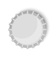 Bottle cap metallic vector image