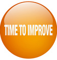 time to improve orange round gel isolated push vector image