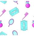 Barbershop tools pattern cartoon style vector image