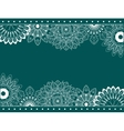 Border with abstract flowers vector image