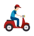 delivery service worker avatar vector image
