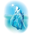 iceberg iceberg under water and above water vector image